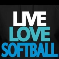 Blue shirt...Live (white) Love (red) Softball (neon)