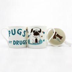 Pugs not Drugs Mug - Buy from Prezzybox.com