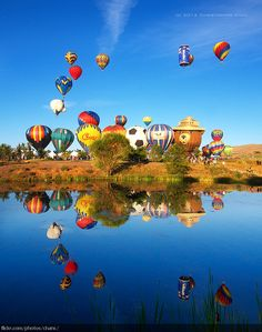 The Great Reno Hot Air Balloon Race is held the first weekend after Labor day each September at Rancho San Rafael Regional Park in Reno, Nevada.  by Christopher Chan