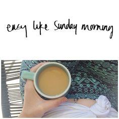 Easy like Sunday morning ☕️