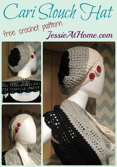 Cari Slouch Hat ~ Free Crochet Pattern by Jessie At Home