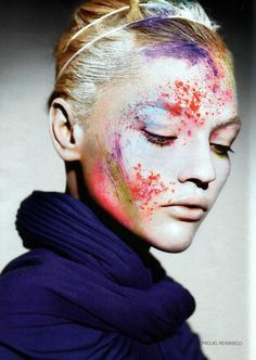 Vogue Russia 2007 - highlight and contour with color