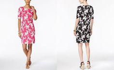Karen Scott Petite Floral-Print T-Shirt Dress 7ba792c22