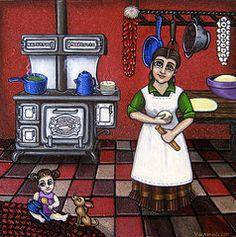 Mexican Food Posters - Mamacita Poster by Victoria De Almeida
