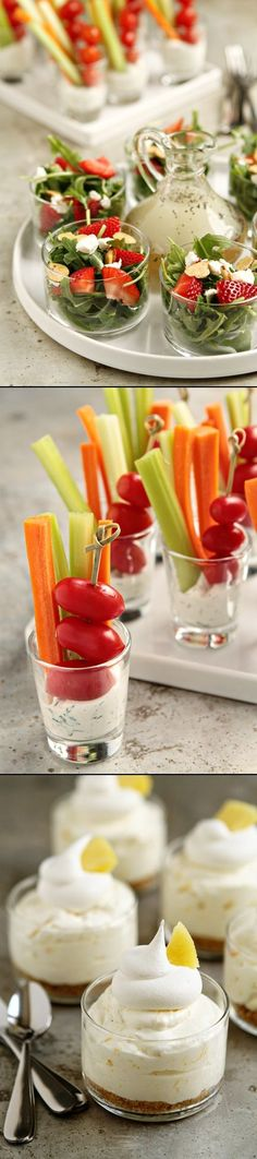 Quick and Easy Recipes for Summer Entertaining - Homemade Dill Dip - Strawberry Salad with Poppy Seed Dressing - Pineapple No Bake Cheesecake.. so yummy!
