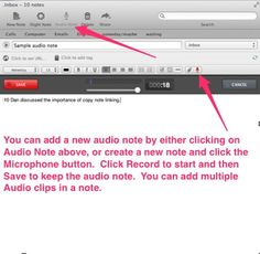 Evernote tip: Record your meetings and conference calls (with permission, of course) in Evernote using an new audio note. Jot down the time stamp for important items with some notes to trigger your memory. After the meeting, go back and listen to those sections to fill in details!  http://www.degconsulting.net/evernote.html