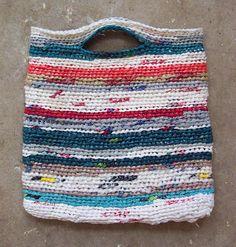 Plastic Grocery Bag Crocheted Clutch