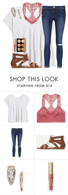 """""""Happy Sunday! Qotd in the description"""" by emmagracejoness ❤ liked on Polyvore featuring MANGO, Youmita, Frame, Kendra Scott, Too Faced Cosmetics and Anastasia Beverly Hills"""