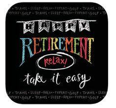 Chalkboard Retirement Paper Dessert Plates