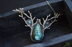 Elven Pendant Doriath Nights Labradorite Necklace Silver