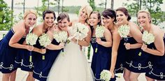 Nautical Bridesmaids Dress - Sailor Rope Bridesmaids Dress - NC Wedding Planner - Full story found at: www.orangerieeven... & Photography by Ginny Corbett Photography