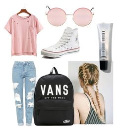 """""""Untitled #12"""" by a-ingham ❤ liked on Polyvore featuring Topshop, Converse, Vans and Bobbi Brown Cosmetics"""