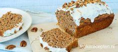 Deze combinatie van worteltjestaart en bananenbrood brengt twee lekkernijen bij elkaar!