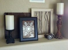 Winter Create handcut snowflake out of cardstock and frame