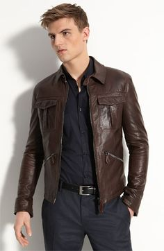 Burberry Leather Bomber-I'll take it