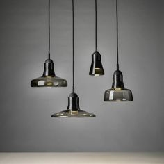 Brokis lights - Smoke Grey Shadows are hanging lights. The designer Lucie Koldova and Dan Yeffet. Pendant Chandelier, Lantern Pendant, Pendant Lighting, Best Desk Lamp, Spotlight Lamp, Multi Light Pendant, Mini Pendant, Ceramic Light, Macedonia