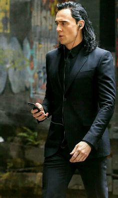 Tom Hiddleston as Loki via doubleagentberperlynd What's on your phone/ipod God of Mischief?