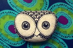 Hand Painted Rock Owl #owl #painted #rock: