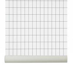 Grid interior trend + design: focus on grid pattern trend for 2016 interiors and design on ITALIANBA Ferm Living Wallpaper, Grid Wallpaper, Black And White Wallpaper, Black White, Home Deco, Design Trends, Branding Design, Modern, Pattern