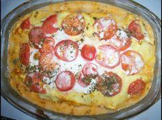 Receita de Lasanha Portuguesa - lasanha-portuguesa.html ... -500g de massa de lasanha pré-cozida, -250g de bacalhau desalgado, -80g de presunto, -50g de alho desidratado, -2 tomates, -180g de requeijão light, -200g de queijo parmessão, -200g de molho branco, -180g de molho de tomates, -80g de leite de coco light, -80g de palmito, -orégano o quanto baste