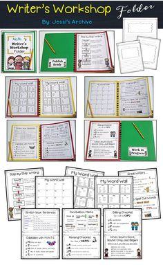 Writing Folder: 32 pages - this writing folder will serve as a guide to your little writers to have polished pieces. Helpful illustrations, checklists and posters will keep them writing if they get stuck. You only need to bind 3 folders together and stick the pages.