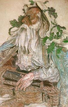 """Stanisław Wyspiański (Polish 1869–1907) """"Portrait of the Actor Andrzej Mielewski"""", 1904, pastel, 92 x 60 cm, Silesian Museum, Katowice."""