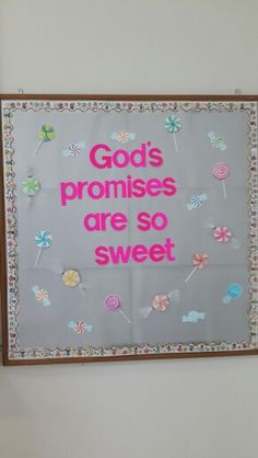 Another sweet bulletin board idea. Used for bible bulletin board.