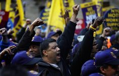 """Sucktardz SEIU Paid Protesters // Truth About Fast Food Proters said Shirley Aldebol, """"SEIU had a big hand in this event...We pulled 100 strikers off line to lend a hand here"""