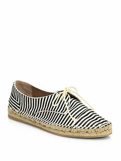 Tabitha Simmons - Dolly Striped Grosgrain Espadrille Sneakers - Saks.com