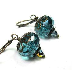 From jewelrybyNaLa ... https://www.etsy.com/jewelrybyNaLa/listing/181986684/metallic-aqua-marine-vintage-style-czech