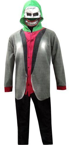 ef30539ea1 WebUndies.com The Joker Suicide Squad One Piece Pajama with Drop Seat Men s  Loungewear