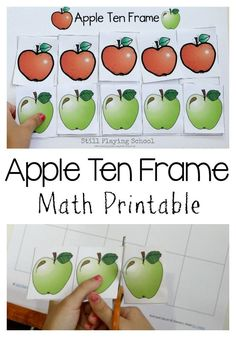 This free math printable is the perfect hands on activity for kids if you are teaching an apple unit or this fall as a fun math center with kindergarten kids! Apple Activities, Autumn Activities, Preschool Activities, Number Activities, Creative Activities, Math Games, Homeschool Math, Homeschooling, Curriculum