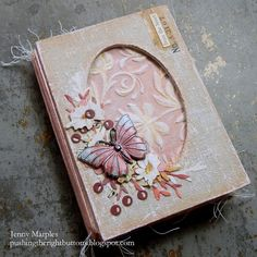 Tim Holtz Ideaology Baseboard Frames Collector Layers Botanical Collage Mini Book Cover