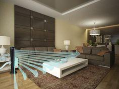 Sala con juego de sofá chocolate, me parece nice!