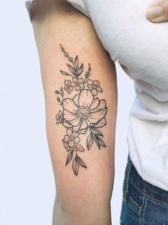 Violet Flower Tattoos, Violet Tattoo, Tattoos For Women Flowers, Tattoos For Guys, Arm Tattoos For Women Forearm, Inner Elbow Tattoos, Inner Forearm Tattoo, Simple Forearm Tattoos, Pansy Tattoo