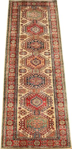 Today's Kazak is a modern shape of old Caucasian rugs which strictly adheres to traditional design elements of the Caucasus.  http://www.alrug.com/4720