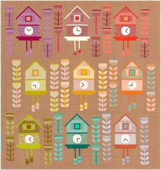 Robert Kaufman Cuckoo QUILT KIT Featuring Berry Season Fabric by Elizabeth Hartman - In stock and ships today! Elizabeth Hartman Quilts, Stash Fabrics, Quilt Sizes, Robert Kaufman, Paper Piecing, Quilting Projects, Quilt Patterns, Berries, Seasons