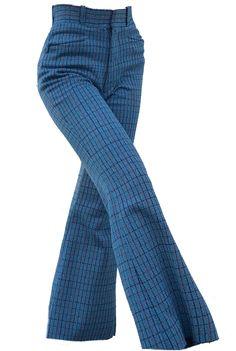 Blue pants 70s polyvore moodboard filler 70s Outfits, Casual Outfits, Fashion Outfits, Fashion Pants, 70s Fashion, Vintage Fashion, 70s Mode, Moda Vintage, Retro Vintage