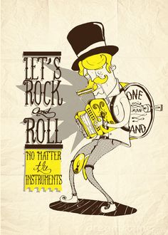 Let's rock and roll by Henrique Mantovani Petrus