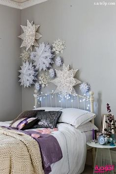 Wonderful Way To Create A Stylish Contemporary Christmas Room Decoration  Design Or Decorate A Function , Ball Party Or Winter Wedding Room Oversized  Paper ...