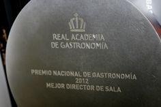Premio Nacional de Gastronomía 2012 al Mejor Director de Sala para Pedro Monje.