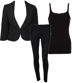 All black outfit. Attn: Erica Watts...  Would be perfect for the dress code at school :)