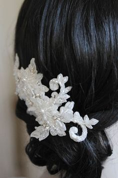 Enchanted Elegance | An ivory lace wedding headpiece for Sarah