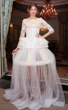 Delphine Manivet from Best Looks From Bridal Week Summer 2017 Seriously??!