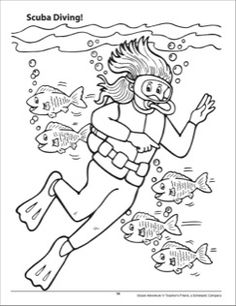 scuba diver coloring pages printable sketch coloring page