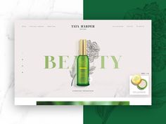 Tata Harper slider webdesign ui skincare cosmetics green beauty page landing Website Layout, Web Layout, Layout Design, Web Design, Page Design, Graphic Design, Cosmetic Web, Typo Logo, Newsletter Design