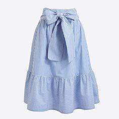 Women's Tie-Waist Midi Skirt - Women's Skirts | J.Crew