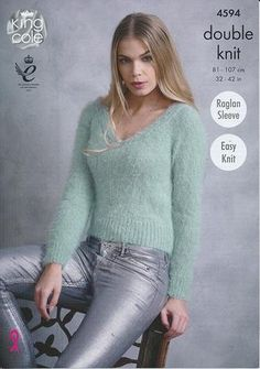 1a0f345bd Sweaters in King Cole Embrace DK (4594) · Fluffy SweaterAngora SweaterGreen  SweaterSweaters KnittedFree Knitting Patterns ...