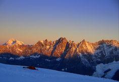 Breithorn plateau near Zermatt- Sunrise, by Daan, via 500px