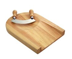 WOODEN CHOPPING BOARD WITH MEZZALUNA (PGIFTSG486004) - Perkal Gift & Clothing Importers SA - Over